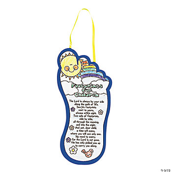 Color Your Own Inspirational Footprints Poems