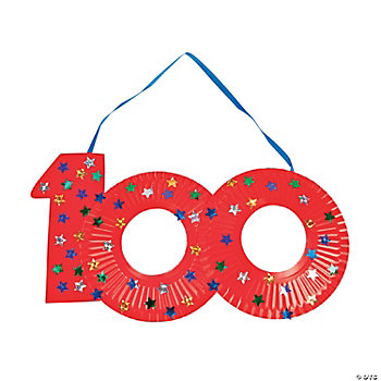 "Paper Plate ""100th Day Of School"" Craft Kit"