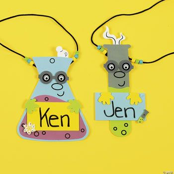 Science Name Tag Necklace Craft Kit