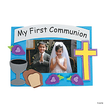 First Communion Photo Frame Magnet Craft Kit - Oriental Trading