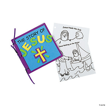 "Color Your Own ""The Story Of Jesus"" Books"