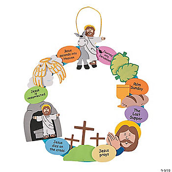 picture regarding Holy Week Activities Printable named wee tiny wonders: Generate an Easter Tale Wreath free of charge