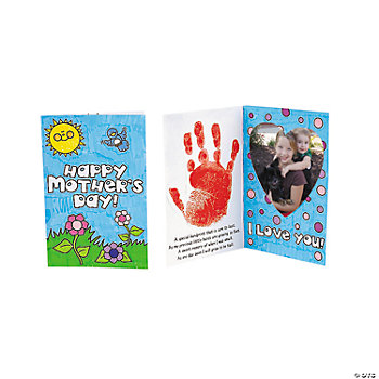 Color Your Own Handprint Mother's Day Photo Frame Card Craft Kit