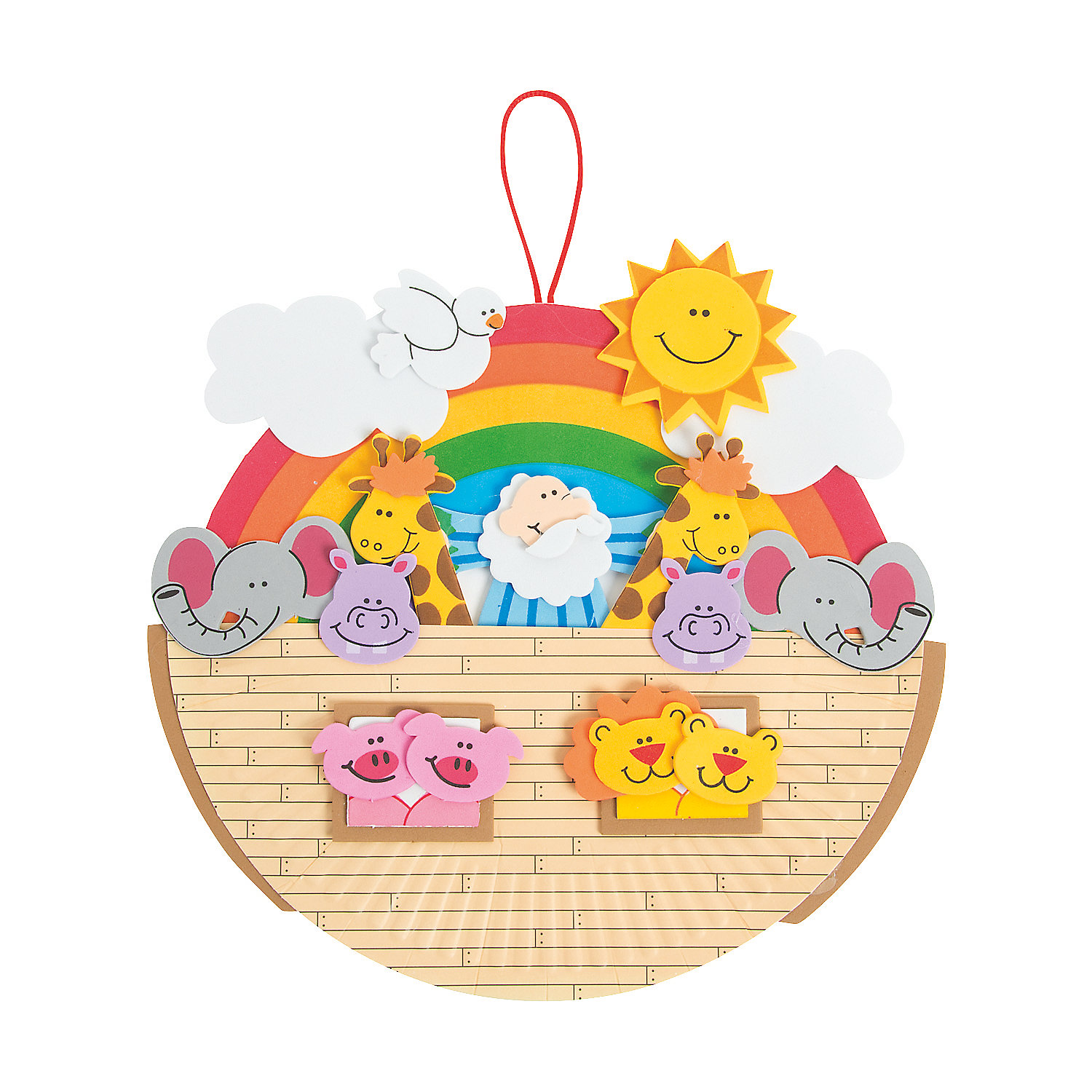 Paper plate noah s ark craft kit for The ark of craft