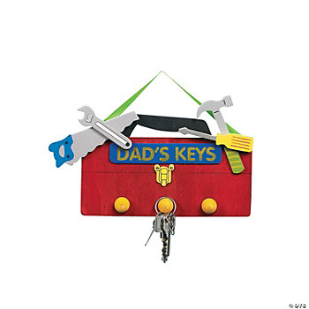 """Dad's Keys"" Key Holder Craft Kit"