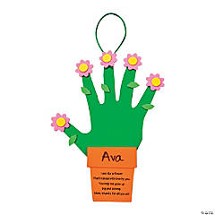Foam Handprint Flowers & Flowerpot For Mom Craft Kit