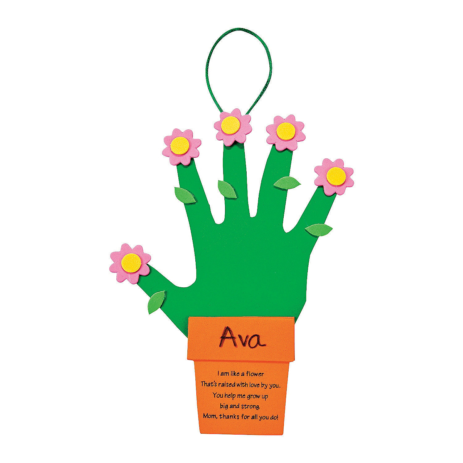 Handprint flowers flowerpot for mom craft kit oriental for Mother s day craft kits