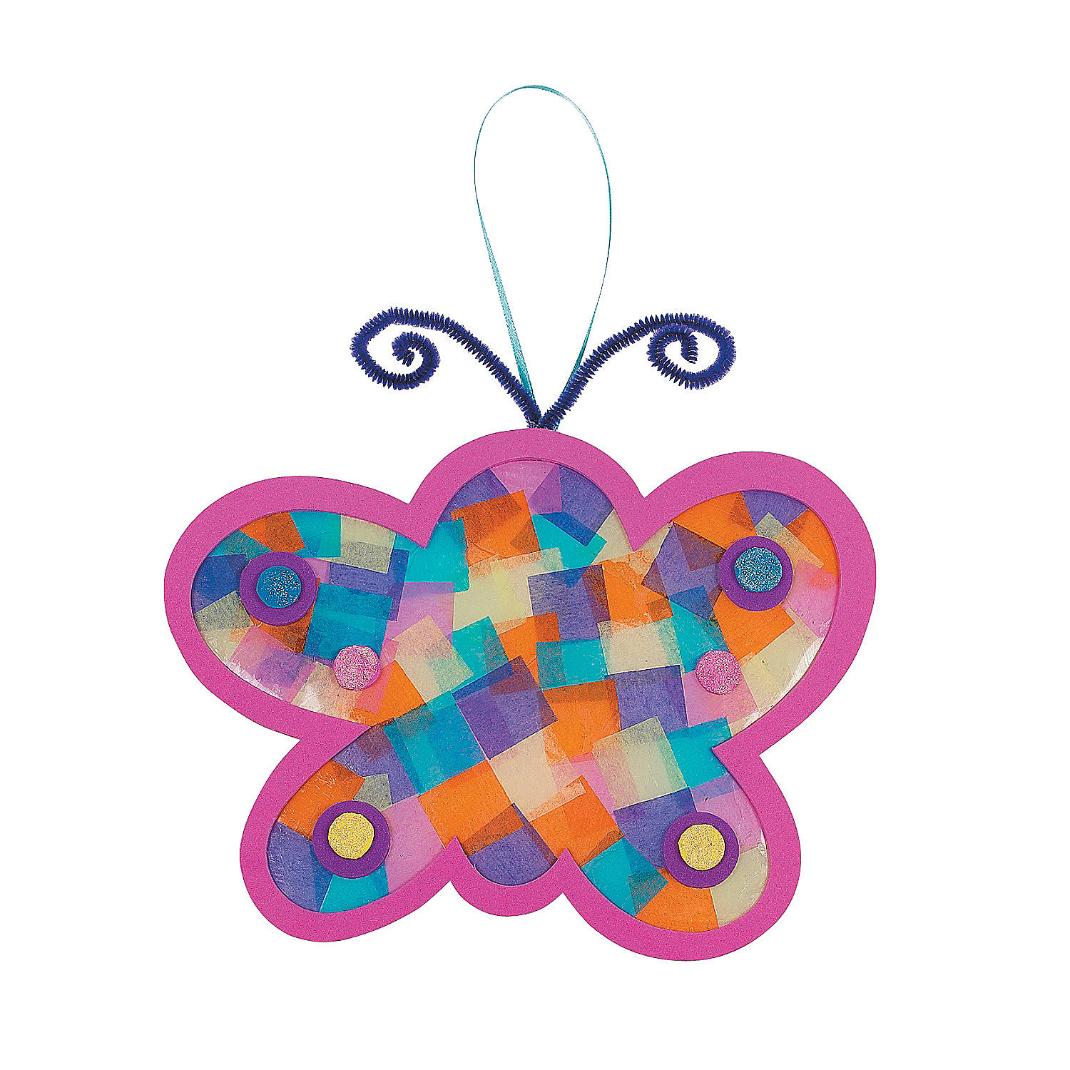 Tissue paper butterfly craft kit oriental trading for Butterflies for crafts and decoration
