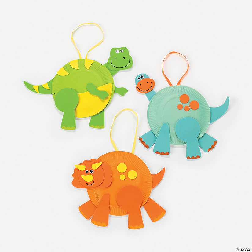 Paper Plate Dinosaurs Craft Kit  sc 1 st  Oriental Trading & Paper Plate Dinosaurs Craft Kit - Discontinued