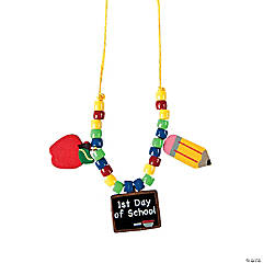 """1st Day of School"" Necklace Craft Kit"