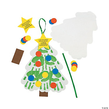 Handprint Christmas Tree Keepsake Craft Kit