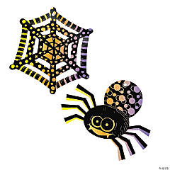 Magic Color Scratch Spiders & Spiderwebs