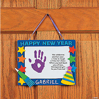 "Handprint ""Happy New Year"" Keepsake Craft Kit - Oriental ..."