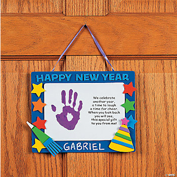 "Handprint ""Happy New Year"" Keepsake Craft Kit - Oriental ..."