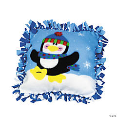 Fleece Penguin Tied Pillow Craft Kit