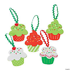 Cupcake Christmas Ornament Craft Kit