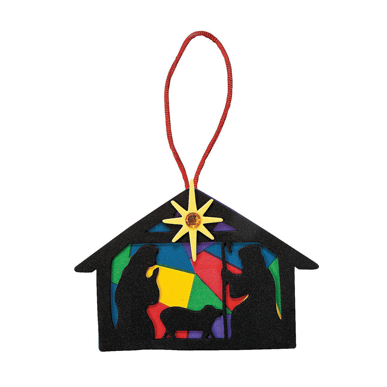 Religious Christmas Ornaments Religious Christmas: Nativity Silhouette Christmas Ornament Craft Kit