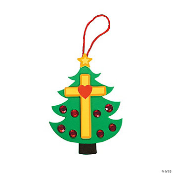 Christmas Tree Cross Foam Ornament Craft Kit