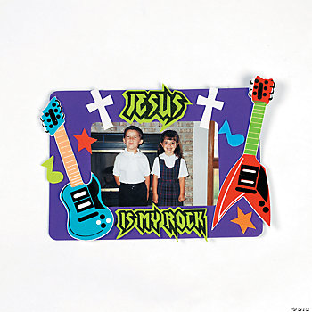 """Jesus Is My Rock"" Photo Frame Magnet Craft Kit"