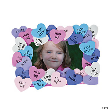 Conversation Heart Photo Frame Magnet Craft Kit