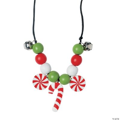 Beaded Candy Cane Necklace Craft Kit