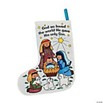 Color Your Own Nativity Christmas Stockings