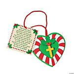 Candy Cane Cross Ornament Craft Kit