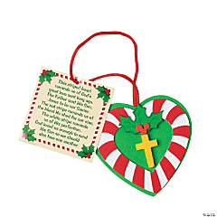 Candy Cane Cross Christmas Ornament Craft Kit