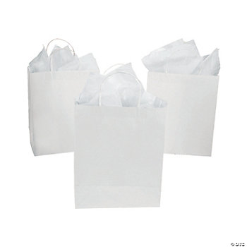 Paper DIY Large White Craft Gift Bags