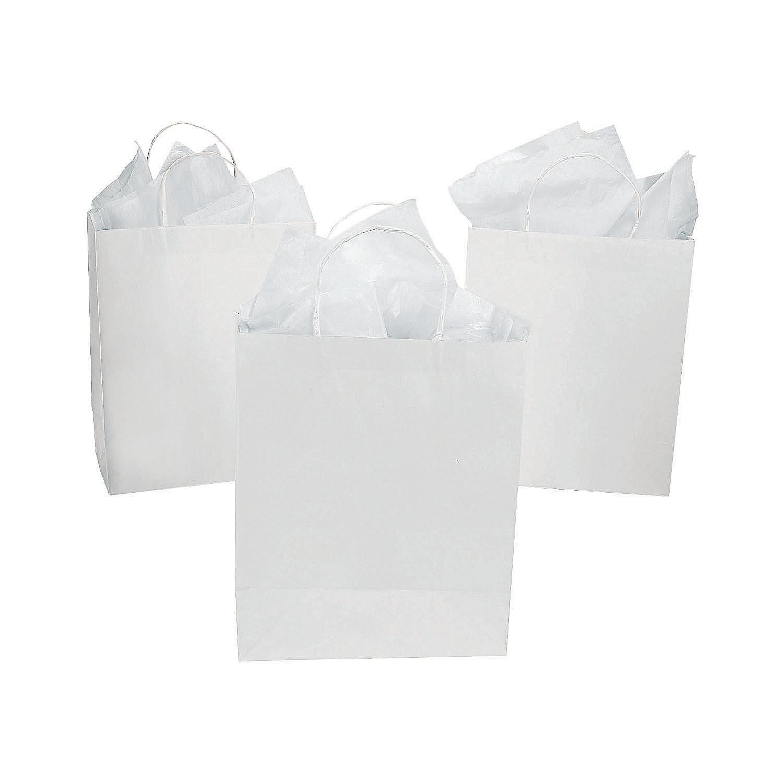 DIY Large White Craft Gift Bags