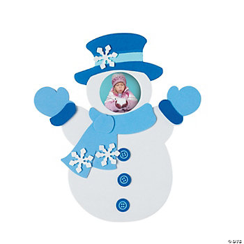 Snowman Photo Frame Self-Adhesive Magnet Craft Kit