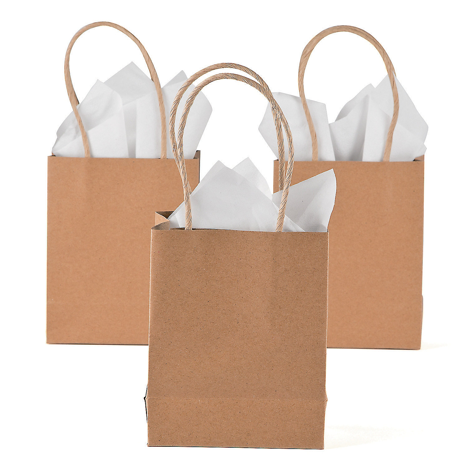 Small craft gift bags for Brown paper craft bags