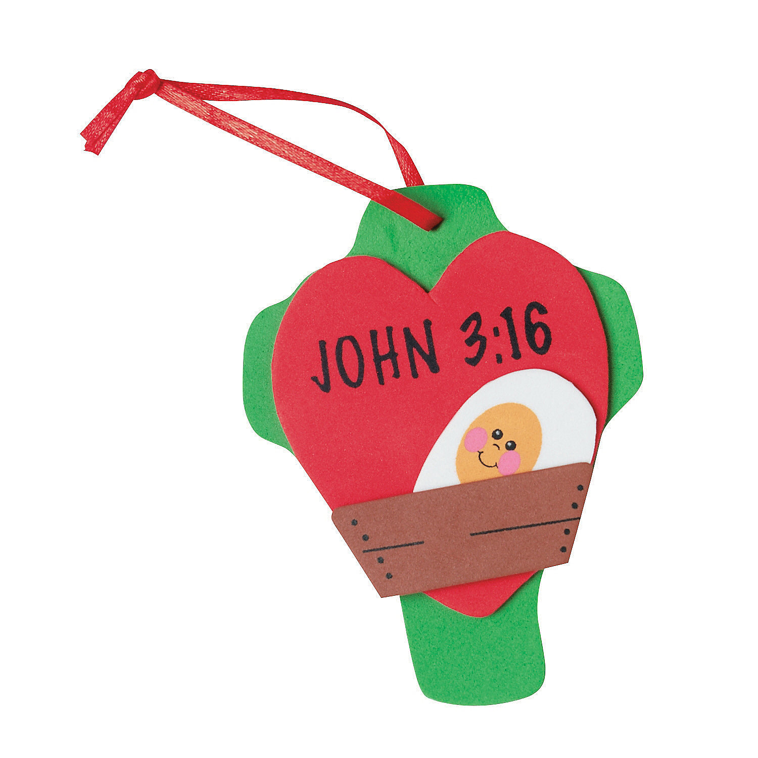 John 3 16 christmas ornament craft kit oriental trading for Religious christmas crafts for kids