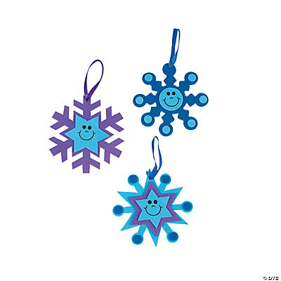 Snowflake-Shaped Christmas Ornaments Craft Kit