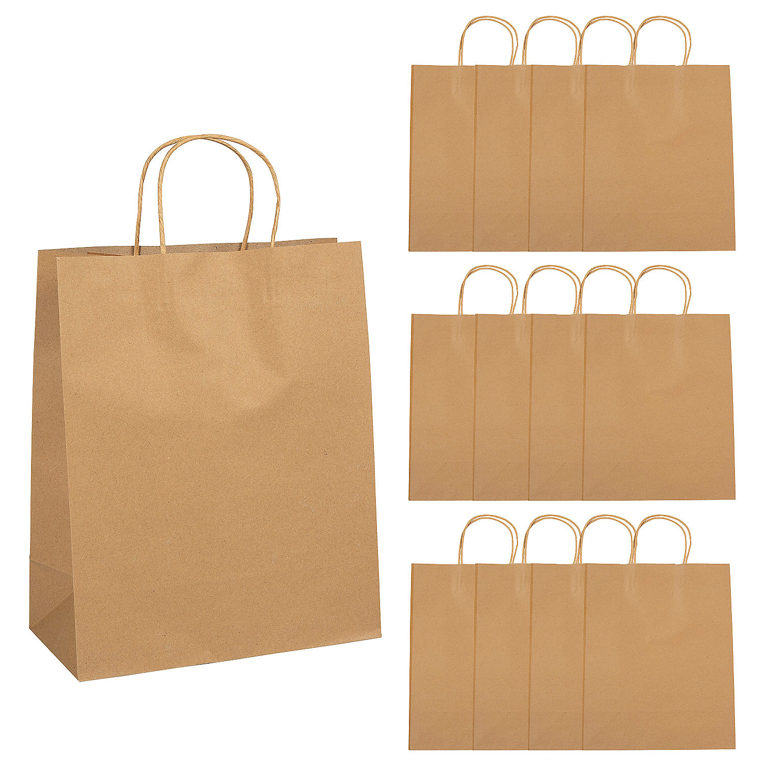 Large brown kraft paper gift bags oriental trading for Brown paper craft bags