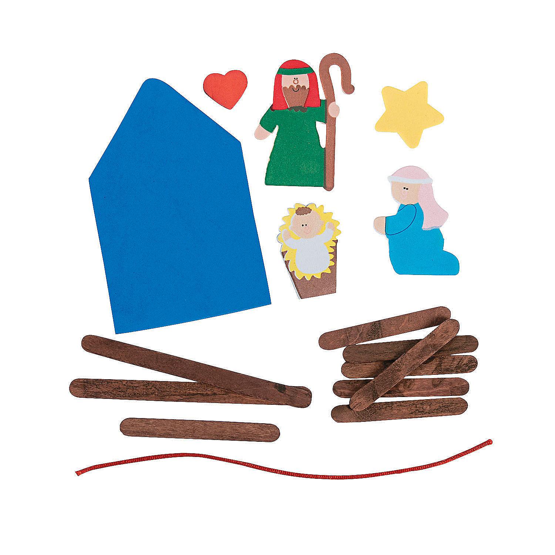 Nativity craft stick religious christmas ornament craft for Religious christmas crafts for kids