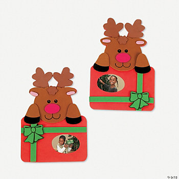 Reindeer Photo Frame Self-Adhesive Magnet Craft Kit