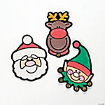 Color Your Own Christmas Fuzzy Magnets