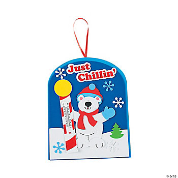 Polar Bear Thermometer Craft Kit