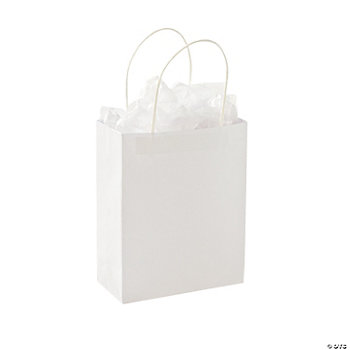 DIY Medium White Gift Bags