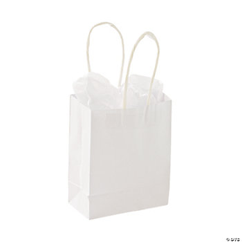 DIY Small White Craft Gift Bags