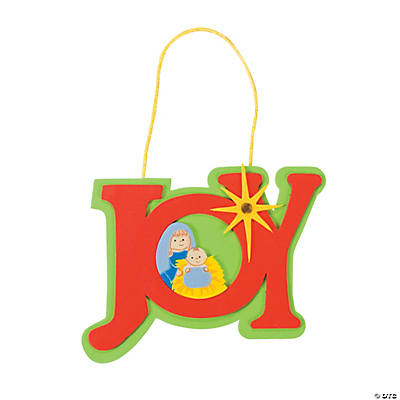 """Joy"" Nativity Christmas Ornament Craft Kit"