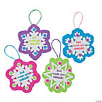 """God Made You Unique"" Snowflake Religious Christmas Ornament Craft Kit"