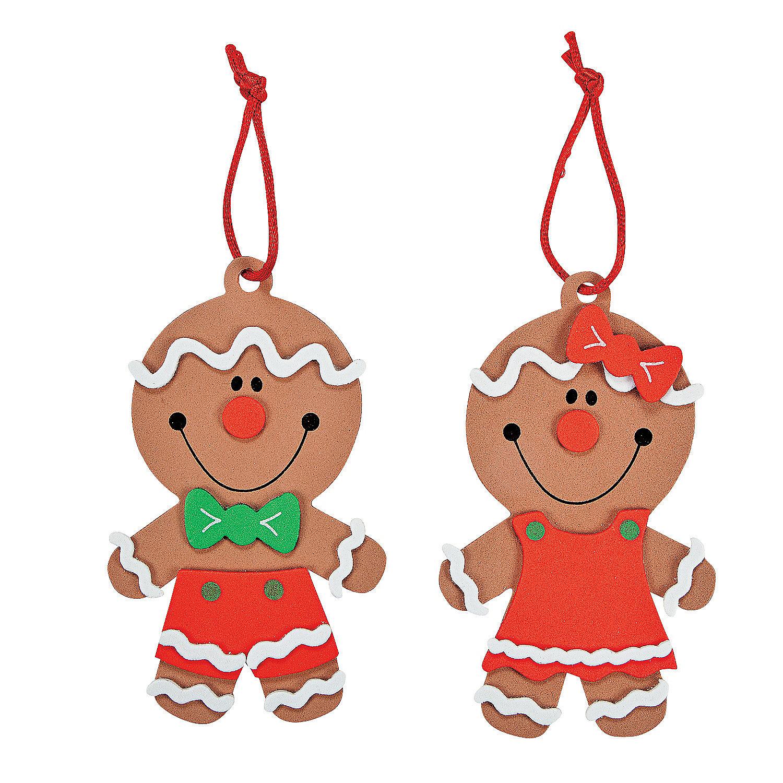 Big Head Gingerbread Christmas Ornament Craft Kit ...