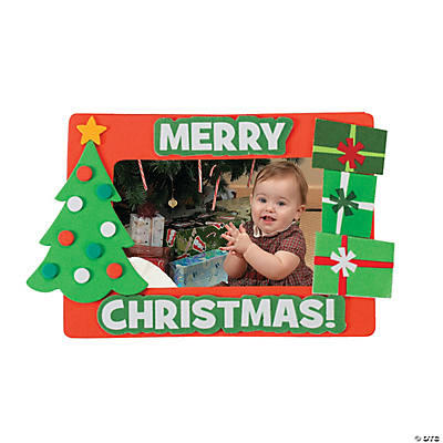 """Merry Christmas"" Picture Frame Magnet Craft Kit"