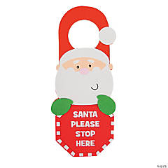 """Santa Stop Here"" Doorknob Hanger Craft Kit"