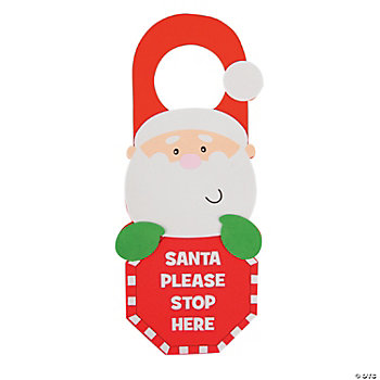 """Santa Stop Here"" Door Hanger Craft Kit"