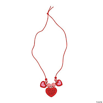 """Keep God In Your Heart"" Necklace Craft Kit"