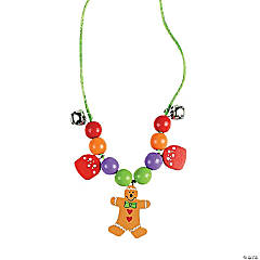 Beaded Gingerbread Necklace Craft Kit