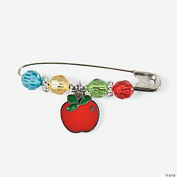 Beaded Apple Charm Pin Craft Kit